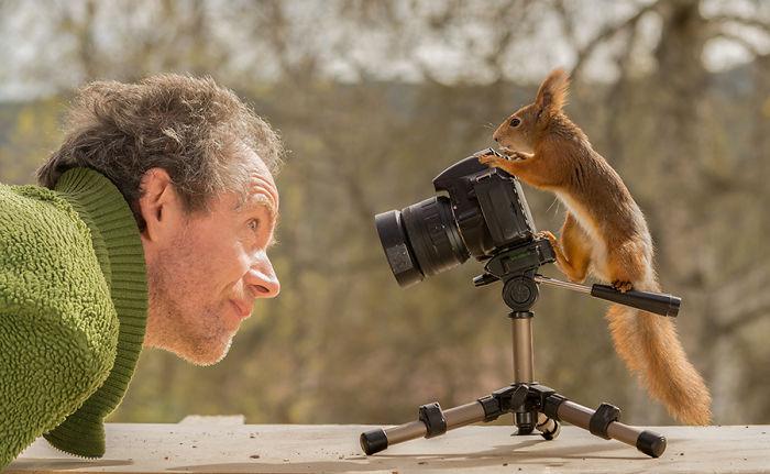 Самые удачные работы фотографа, который почти 10 лет снимал белок